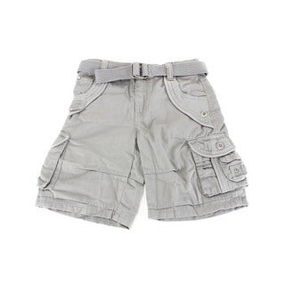 Grey Request Jeans Solid Cotton Boy's Shorts