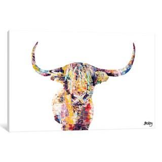 iCanvas Highland Cow by Becksy Canvas Print