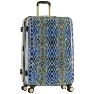 Aimee Kestenberg 'Ivy' 28-inch Lightweight Hardside Expandable 8-wheel Spinner Checked Suitcase with Gold Plated Hardware (2 options available)
