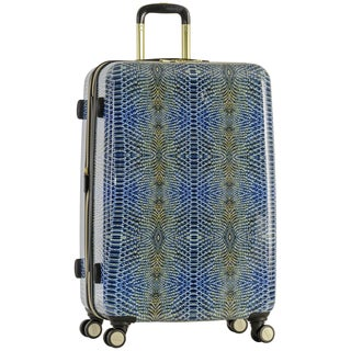 Aimee Kestenberg 'Ivy' 28-inch Lightweight Hardside Expandable 8-wheel Spinner Checked Suitcase with Gold Plated Hardware