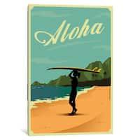 iCanvas 'Aloha' by American Flat Canvas Print