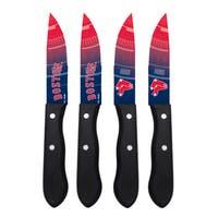 Boston Red Sox MLB 4 Pc Stainless Steak Knife Set