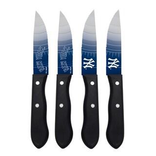 New York Yankees MLB 4 Pc Stainless Steak Knife Set