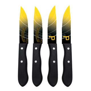 Pittsburgh Pirates MLB 4 Pc Stainless Steak Knife Set