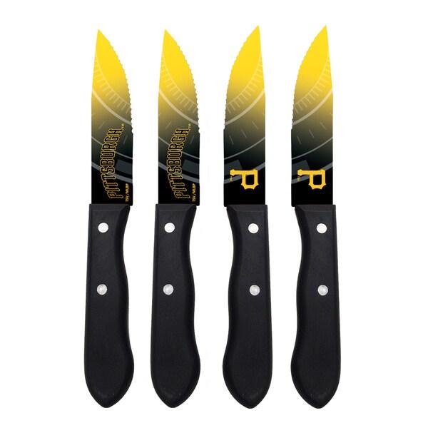Pittsburgh Pirates MLB 4 Pc Stainless Steak Knife Set