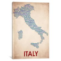 iCanvas 'Italy' by American Flat Canvas Print