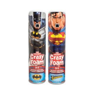 Crazy Foam DC Justice League 2 Pk Batman and Superman
