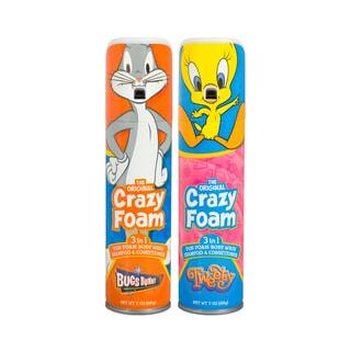 Crazy Foam Looney Tunes 2 Pk Bugs Bunny and Tweety Bird