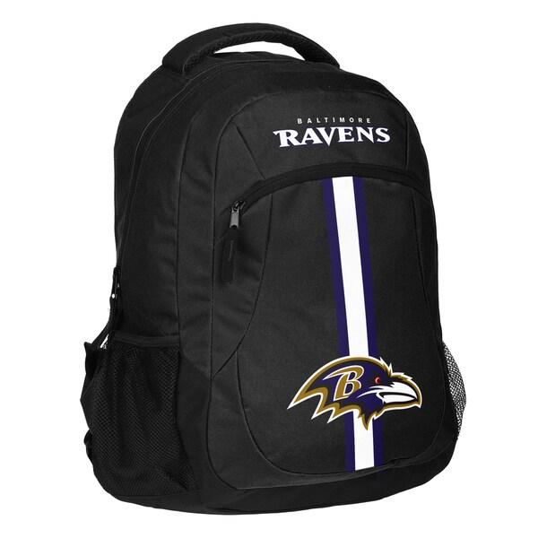 Baltimore Ravens NFL Action Stripe Logo Backpack