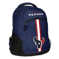 Houston Texans NFL Action Stripe Logo Backpack