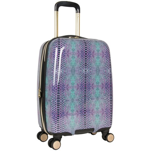 Aimee Kestenberg 'Ivy' 20-inch Lightweight Hardside Expandable 8-wheel Spinner Carry-on Suitcase with Gold Plated Hardware