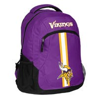Minnesota Vikings NFL Action Stripe Logo Backpack