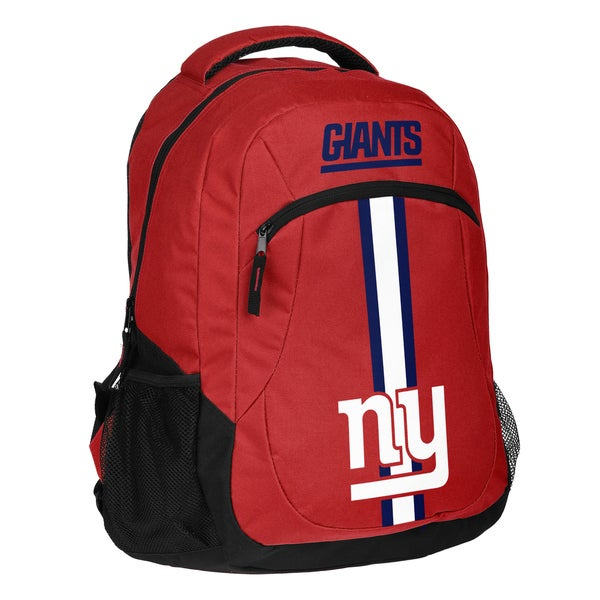 c446286e7d24b6 Shop New York Giants NFL Action Stripe Logo Backpack - Free Shipping ...