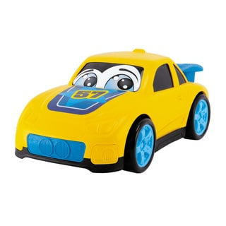 10 Inch Happy Runners Vehicle Yellow Street Car