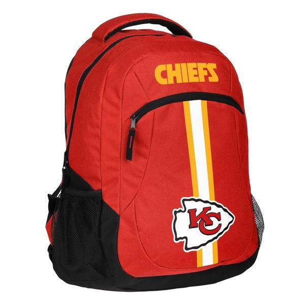 Kansas City Chiefs NFL Action Stripe Logo Backpack