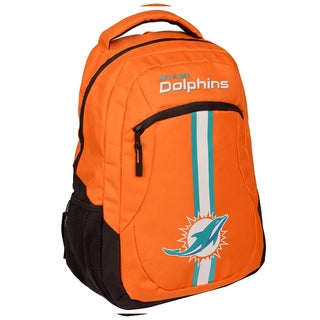 Miami Dolphins NFL Action Stripe Logo Backpack