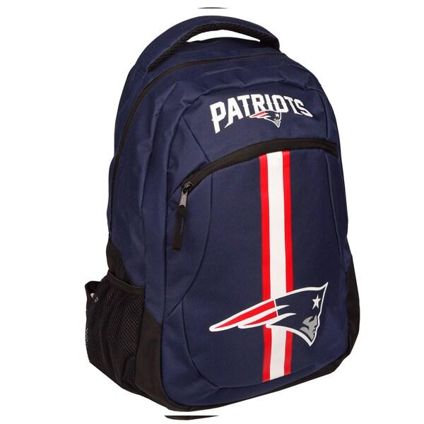 New England Patriots NFL Action Stripe Logo Backpack