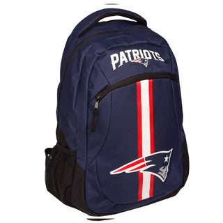 New England Patriots NFL Action Stripe Logo Backpack