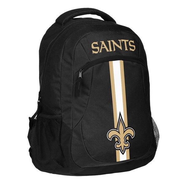 New Orleans Saints NFL Action Stripe Logo Backpack