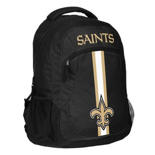New Orleans Saints NFL Action Stripe Logo Backpack