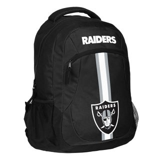 Oakland Raiders NFL Action Stripe Logo Backpack