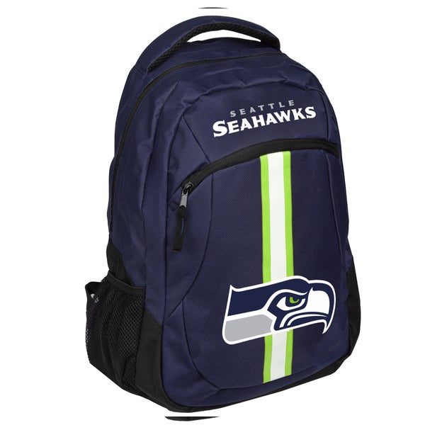 Seattle Seahawks NFL Action Stripe Logo Backpack