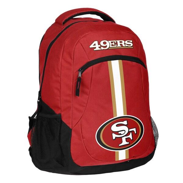 San Francisco 49ers NFL Action Stripe Logo Backpack