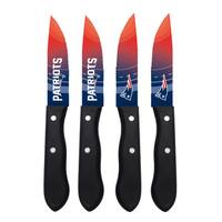 New England Patriots NFL 4 Pc Stainless Steak Knife Set