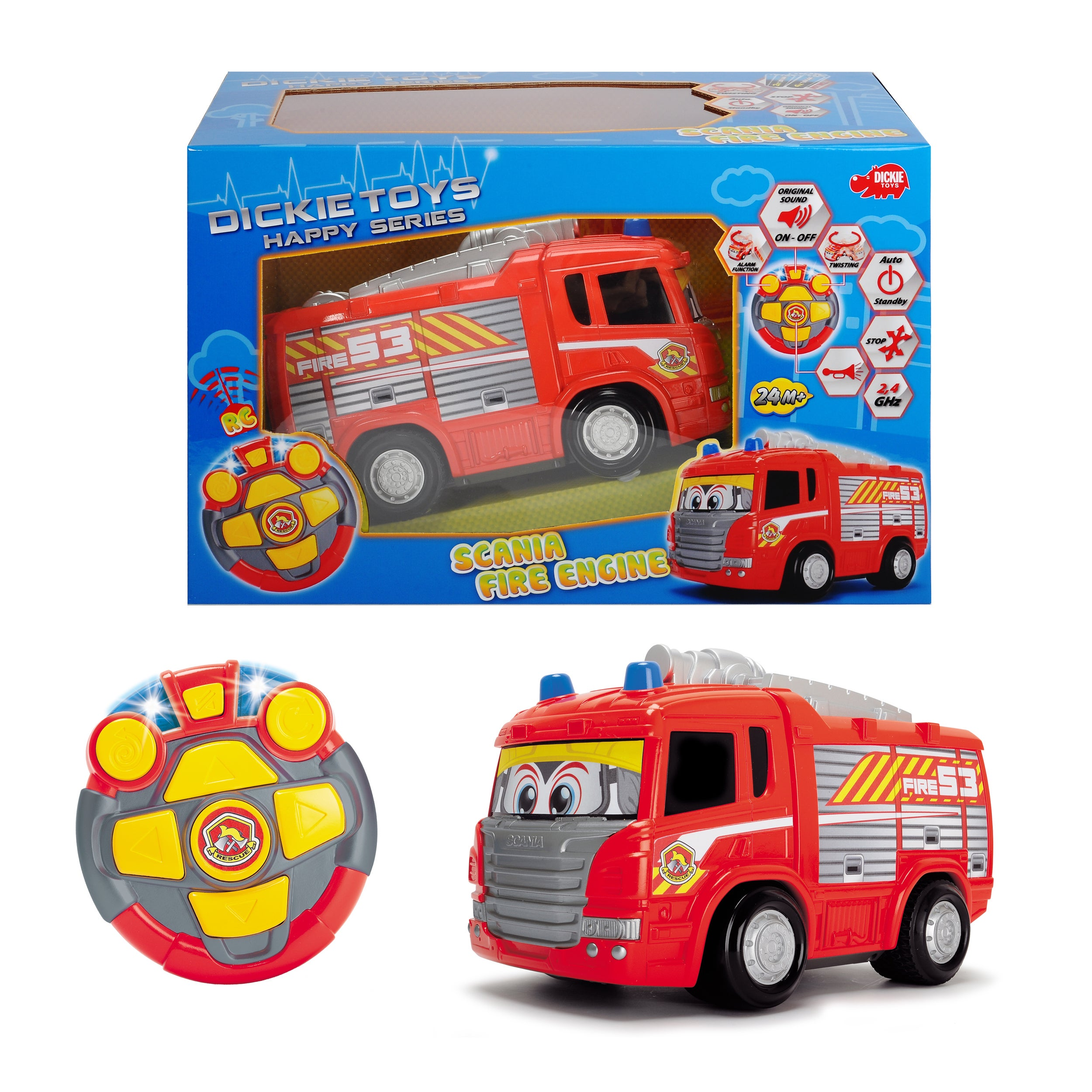 Dickie Toys Remote Control Happy Fire Truck (1), Multi