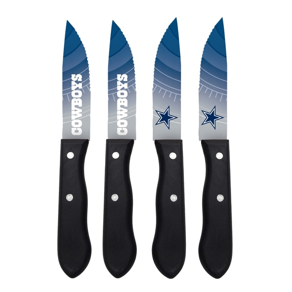 Dallas Cowboys NFL 4 Pc Stainless Steak Knife Set