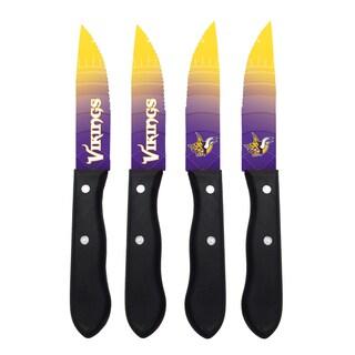 Minnesota Vikings NFL 4 Pc Stainless Steak Knife Set