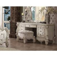 Queenies White Vanity Stool