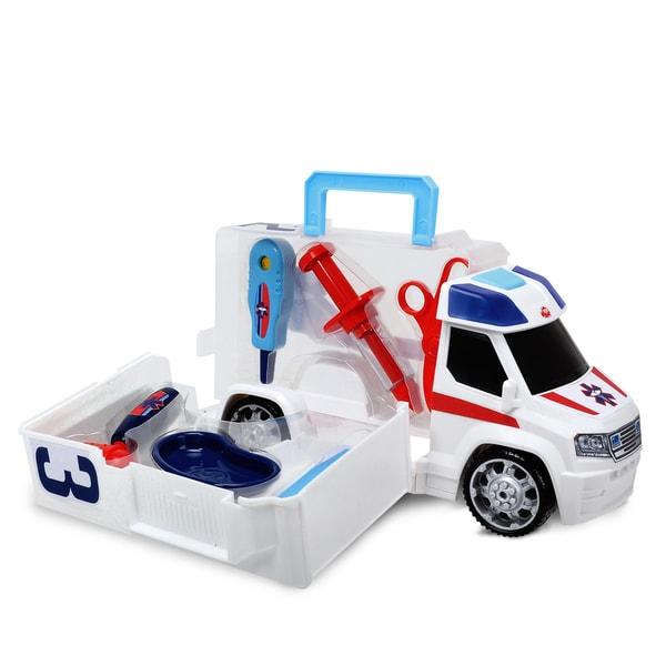 Dickie Toys Push and Play SOS Ambulance