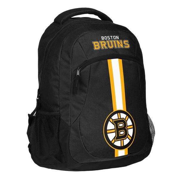 Boston Bruins NHL Action Stripe Logo Backpack