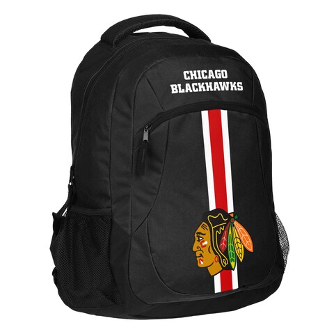 Chicago Blackhawks NHL Action Stripe Logo Backpack