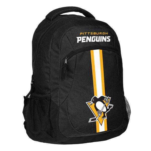 Pittsburgh Penguins NHL Action Stripe Logo Backpack