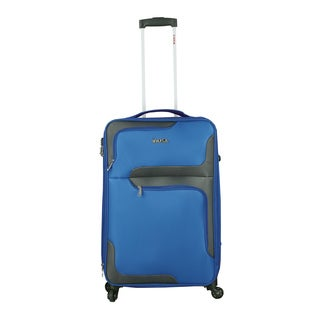 InUSA 3D- City 24-Inch Lightweight Softside Spinner Suitcase