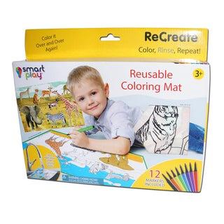 Wild Animals ReCreate Large Reusable Coloring Mat