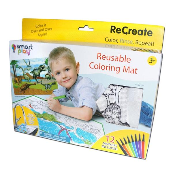 Dinosaurs ReCreate Large Reusable Coloring Mat
