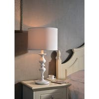 Design Craft Hampton 27-inch Table Lamp - White
