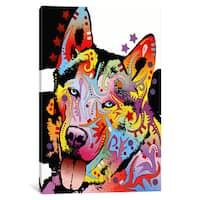 iCanvas Siberian Husky by Dean Russo Canvas Print