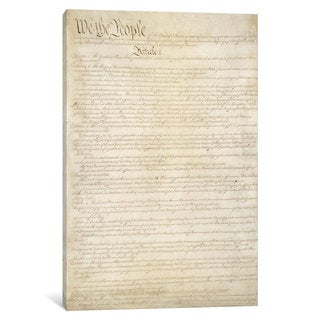 iCanvas 'The Constitution Document' by Unknown Artist Canvas Print