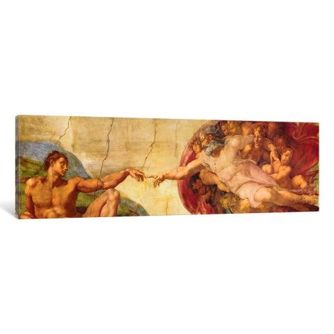 iCanvas 'Creation of Adam' by Michelangelo Canvas Print