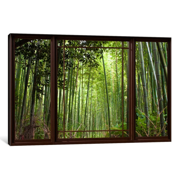 iCanvas 'Bamboo Forest Window View' by iCanvas 'Canvas Print