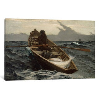 iCanvas The Fog Warning by Winslow Homer Canvas Print