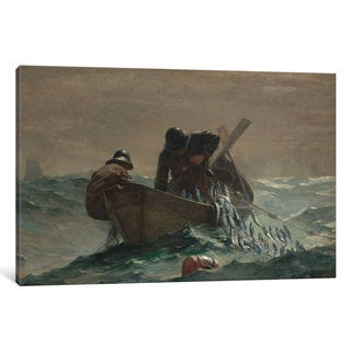iCanvas 'The Herring Net' by Winslow Homer Canvas Print