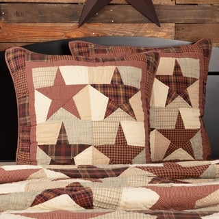 Abilene Star Quilted Cotton Euro Sham