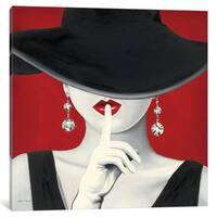 iCanvas Haute Chapeau Rouge I  by Marco Fabiano Canvas Print