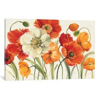 iCanvas Poppies Melody I by Lisa Audit Canvas Print
