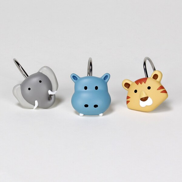 Saturday Knight Safari Shower Curtain Hooks